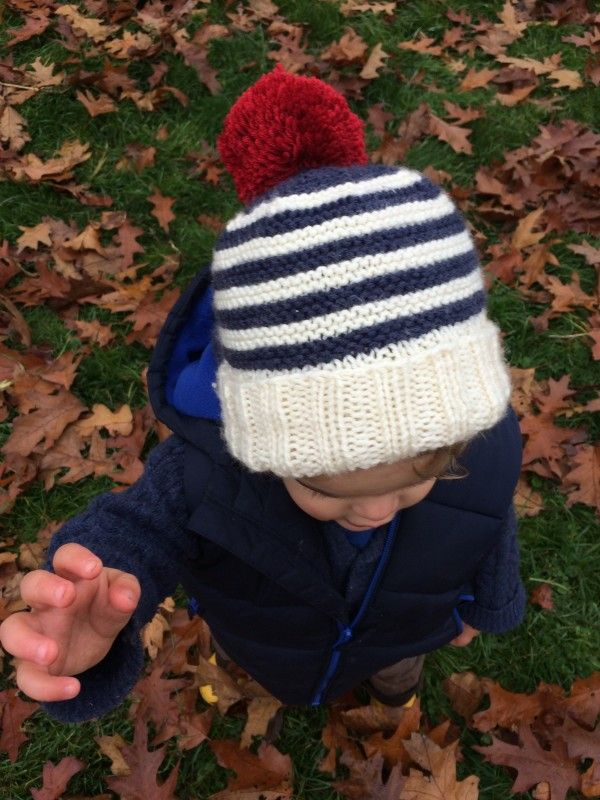 Free Knitting Pattern For Toddler Bobble Hat Kids Stuff