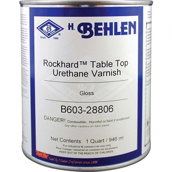 Behlen rockhard table top varnish quart gloss finish