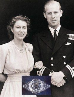 Queen Elizabeth II: The diamonds for Queen Elizabeth II's engagement ring from Prince Philip came from a tiara belonging to Philip's mother, Princess Andrew of Greece.