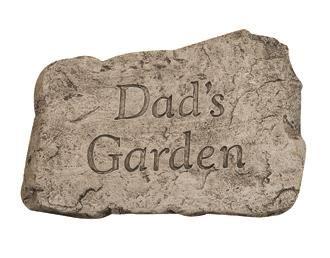 Garden Greetings Dads Garden Stone #fathersday #fathersdaygifts #fathersdaygiftideas #outdoors #outdoorliving #gardenstone #garden #gardening #gardendecor #decor #dadsgarden https://www.landscaperoutlet.com/Garden-Greetings-Dads-Garden-10-inch-Stone