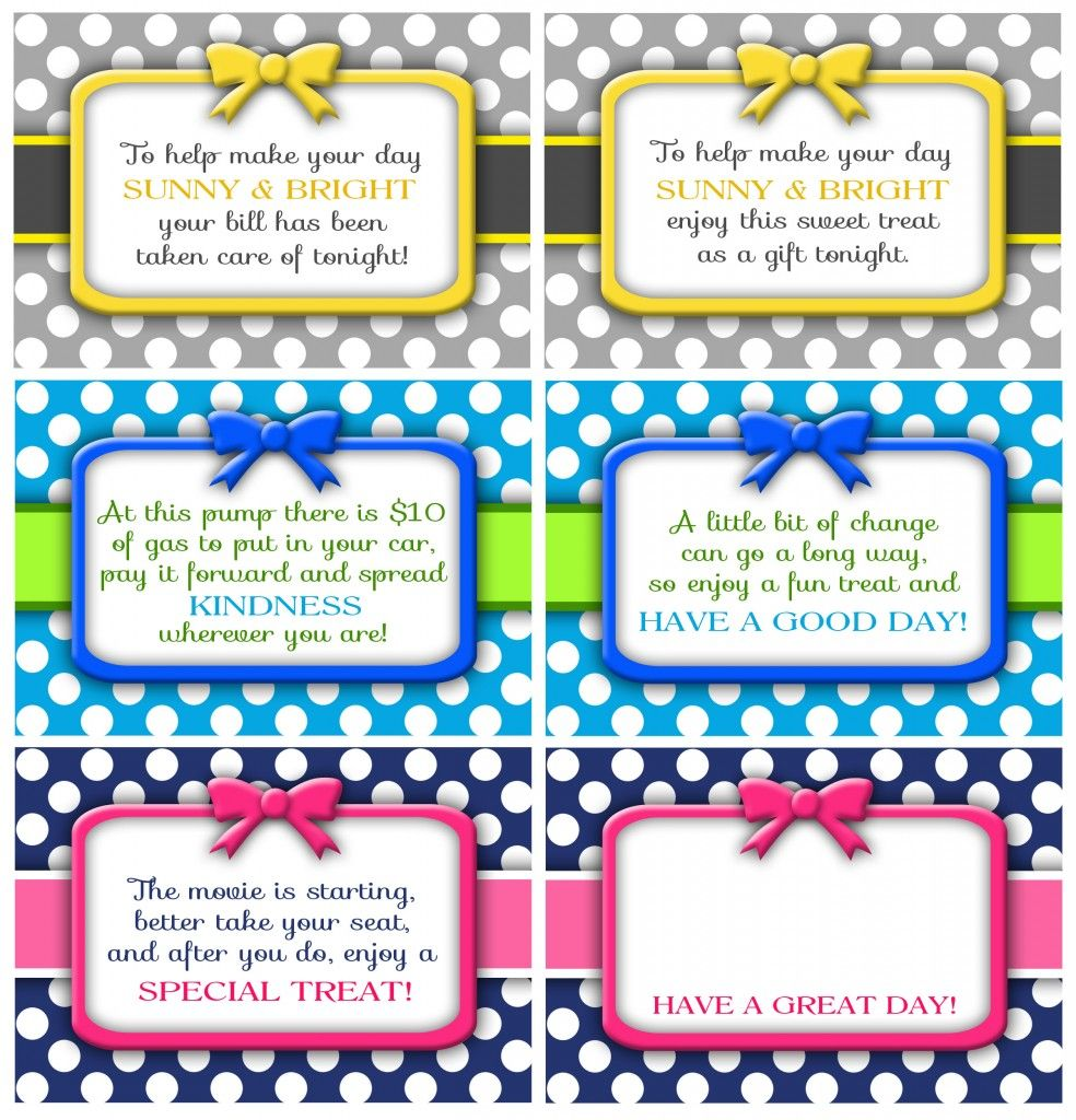 Random Acts Of Kindness Cards Darling Doodles Random Acts Of Kindness Card Template Kindness Notes