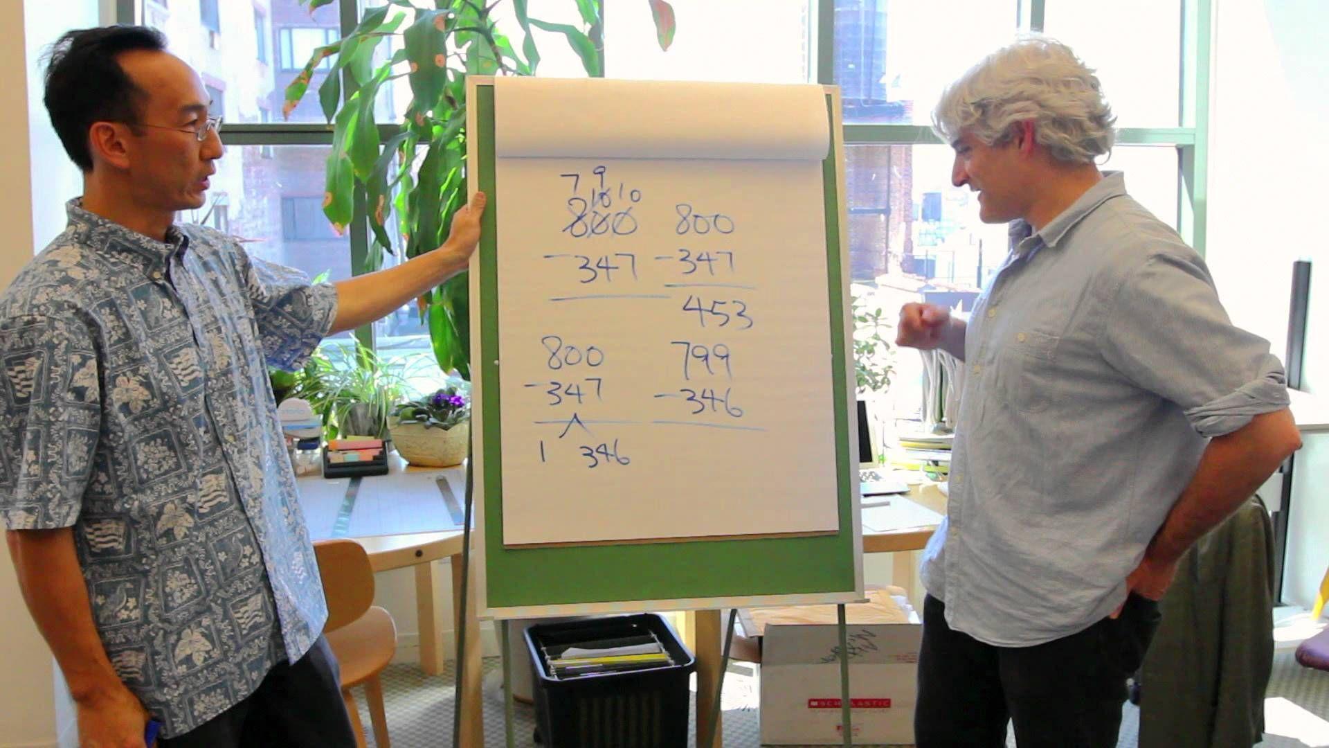 Greg Tang Teaches Scholastic employees interesting math trick ...