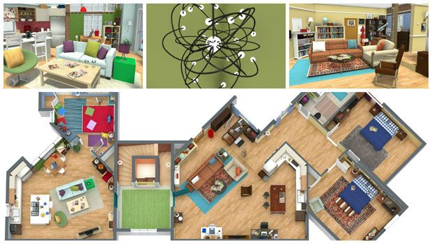The Big Bang Theory Apartments In Live 3D!