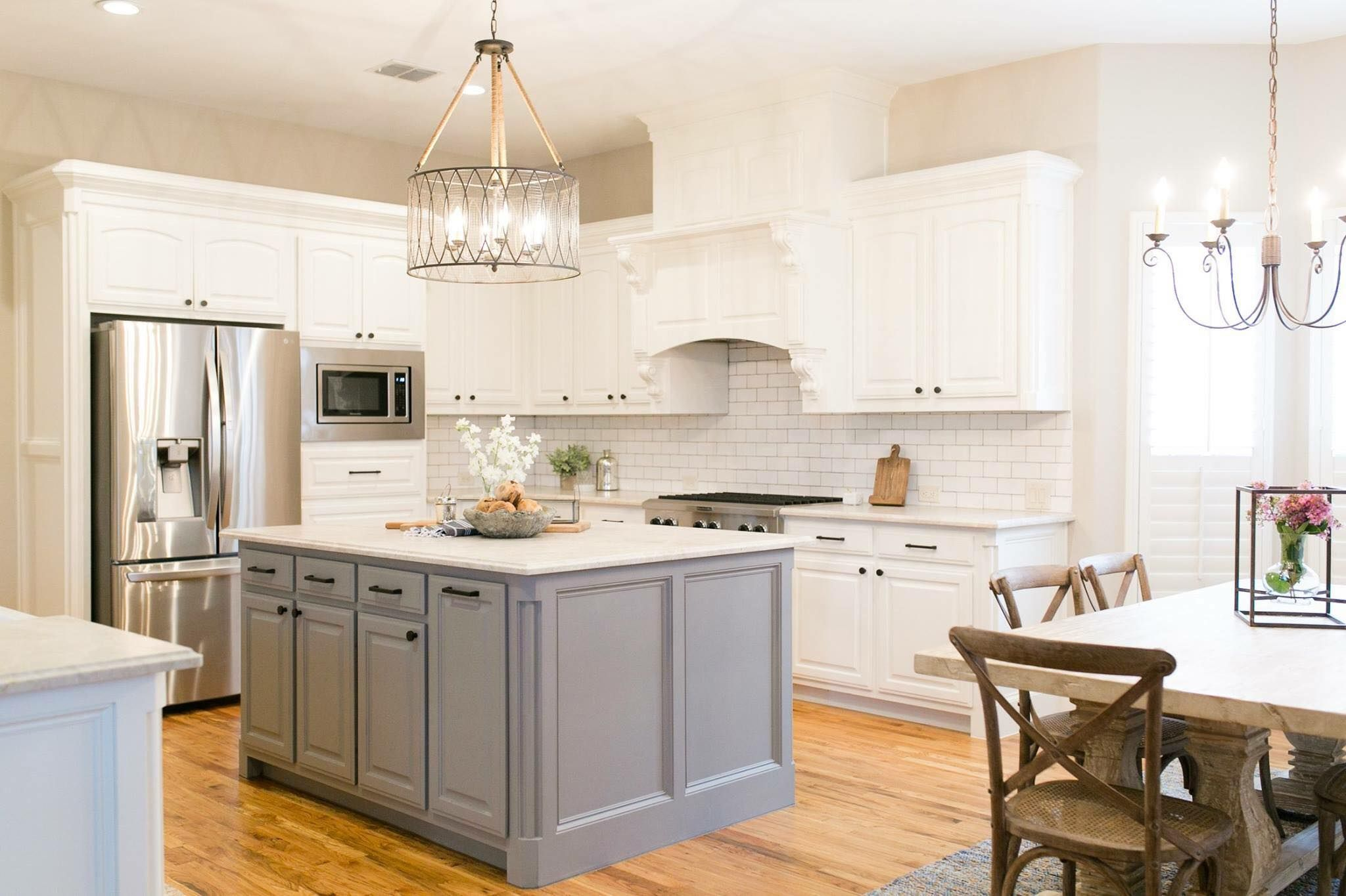 Timeless Kitchen Timeless Kitchen Natural Wood Flooring Grey Cabinets
