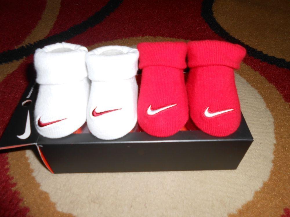 Nike Boy Booties Infant Socks Size 0-6 M Boys Newborn crib shoes ...