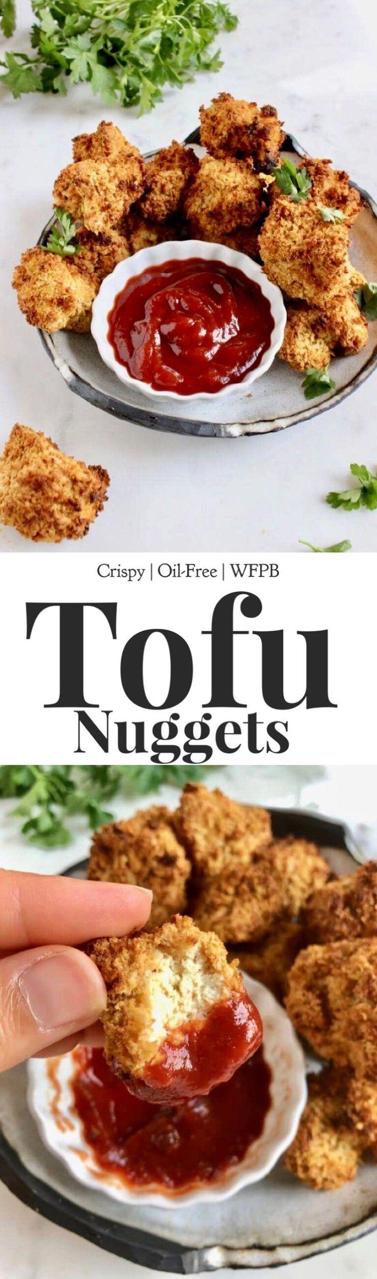 Crispy air fryer tofu nuggets recipe easy appetizer