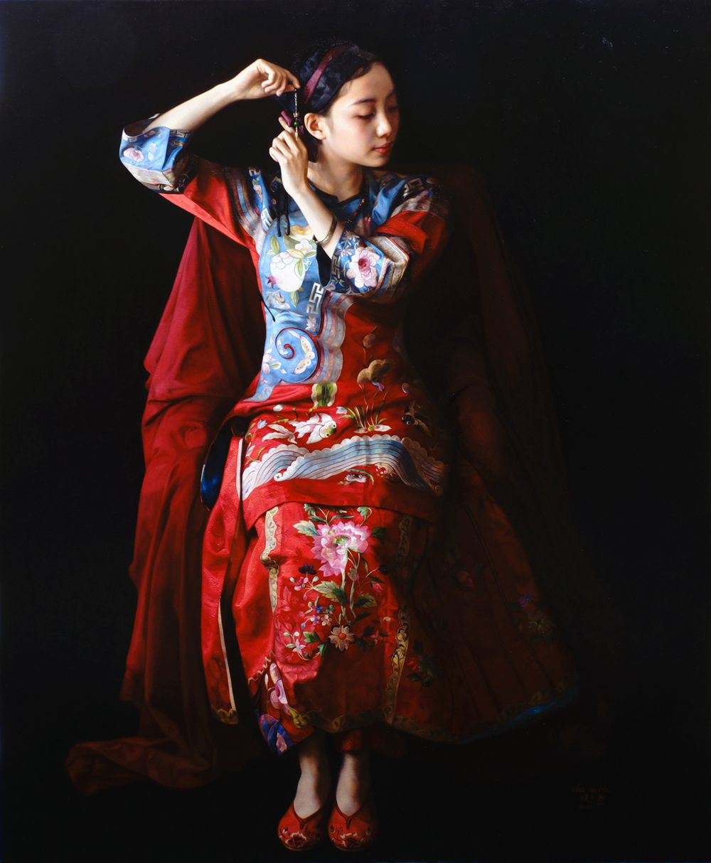 Spring Wind Over Last Nigh By China Artist Kailin Zhao Kailin Zhao Was Born In 1961 In Bengbu City Hyper Realistic Paintings Painting Words Chinese Artists