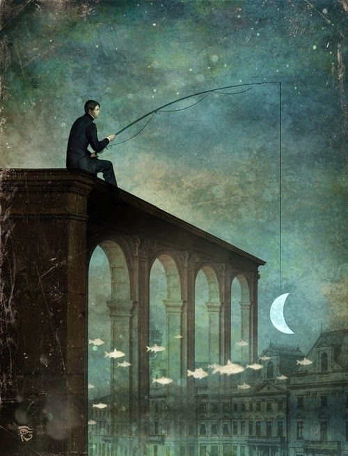 15-The-River-Christian-Schloevery-Surreal-Paintings-Balance-of-Mind-and-Heart-www-designstack-co