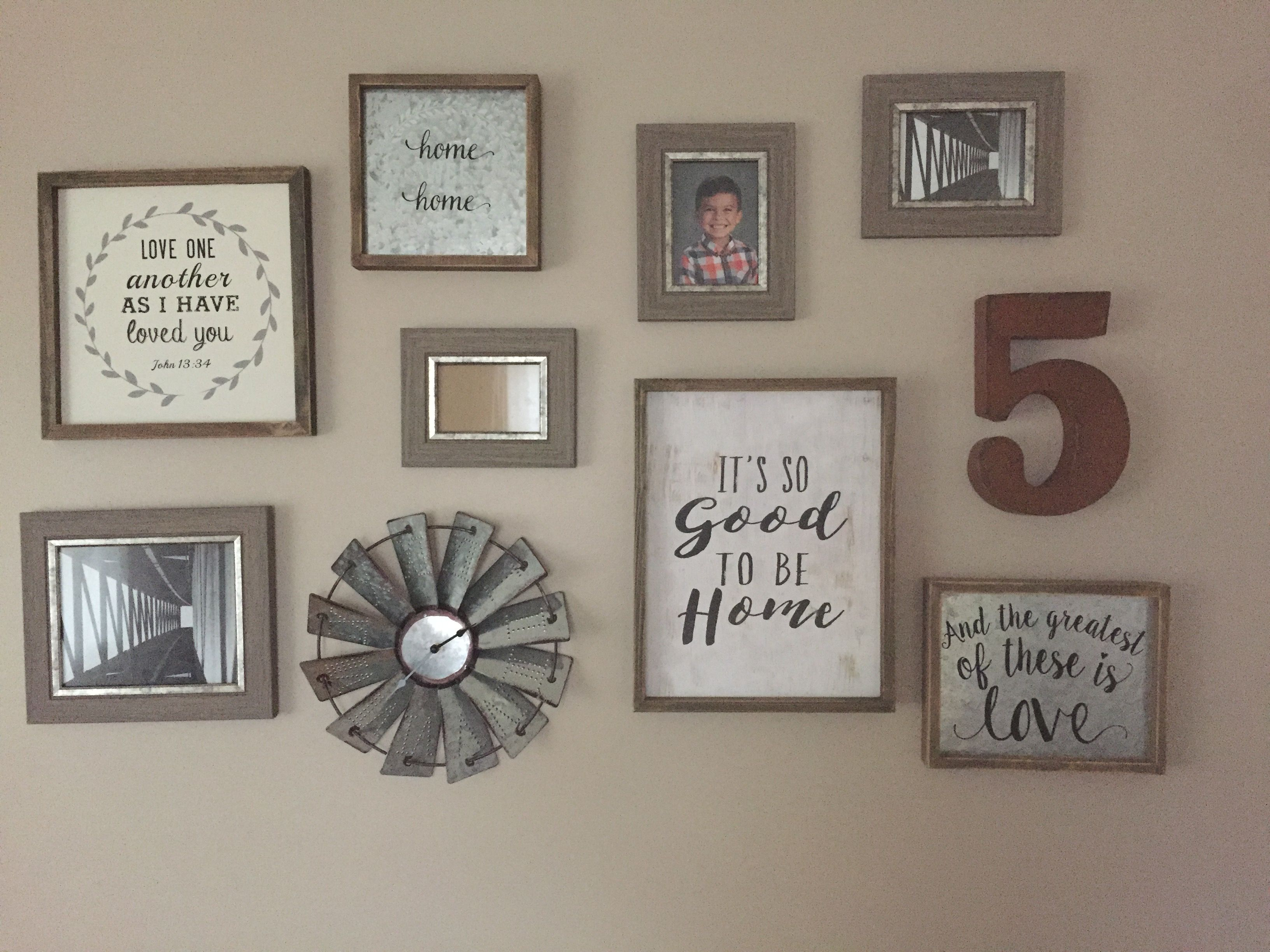 #Farmhouse #Gallery Wall Made From #Hobbylobby Its Still Not Complete