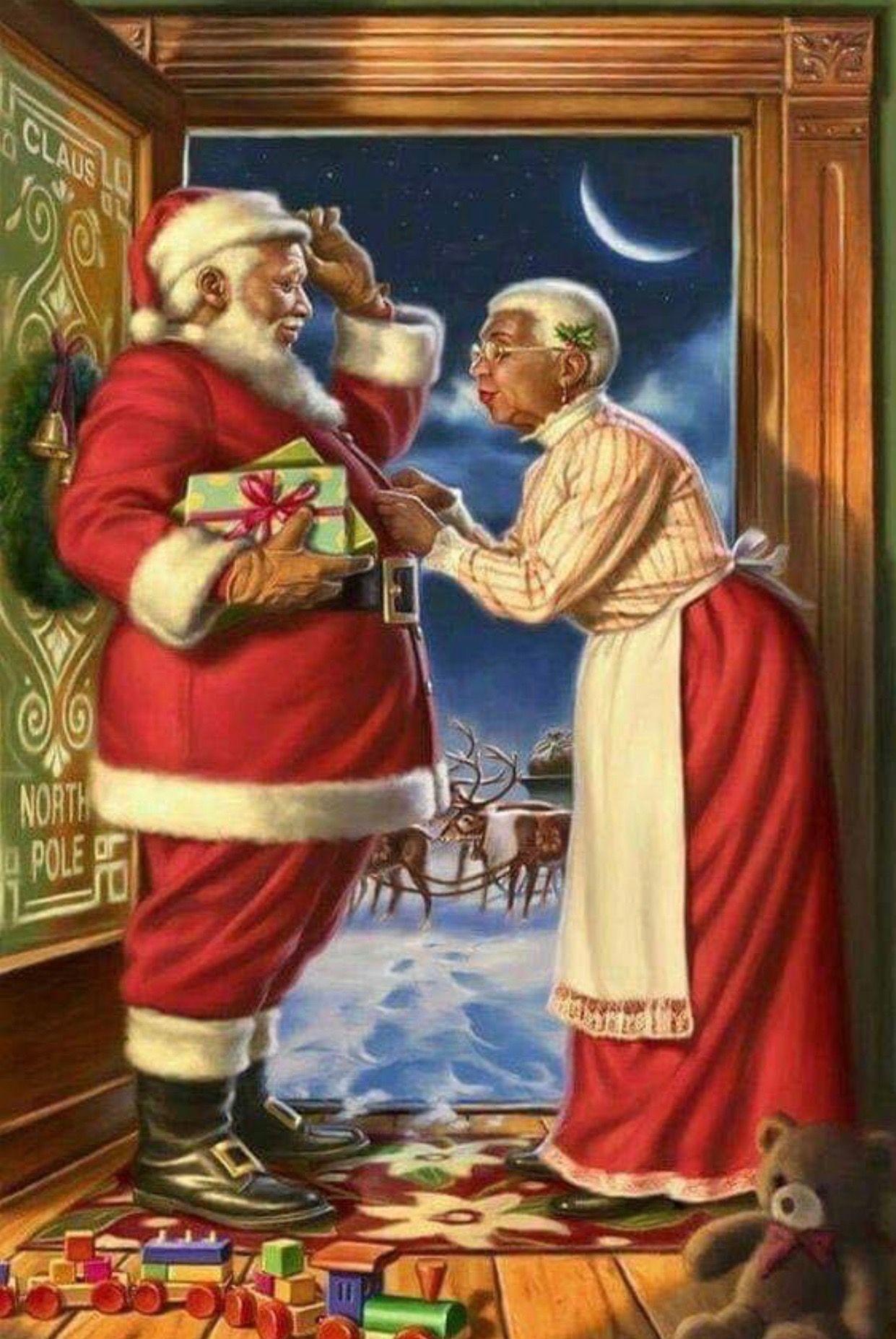 Pin By Edward Dahlem On Black Art Christmas Scenes Black Christmas American Greetings Cards