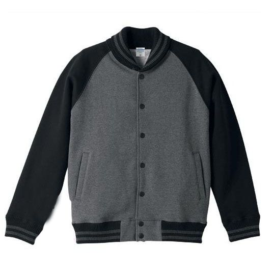 Black And Grey Baseball Jacket