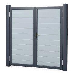 ECO double door tight – gray / anthracite
