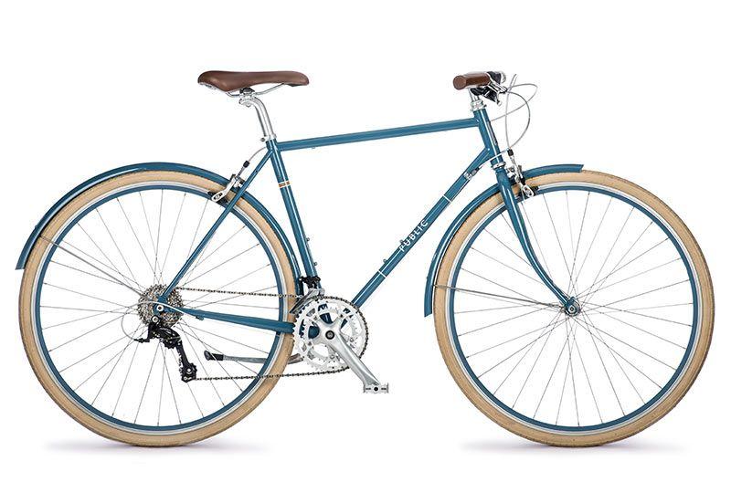 Public R16 Flat Bar Road Bike In Slate Blue Flat Bar Road Bike