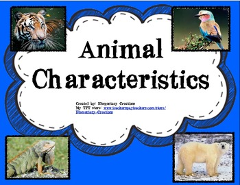 characteristics of animals animal students and group activities. Black Bedroom Furniture Sets. Home Design Ideas