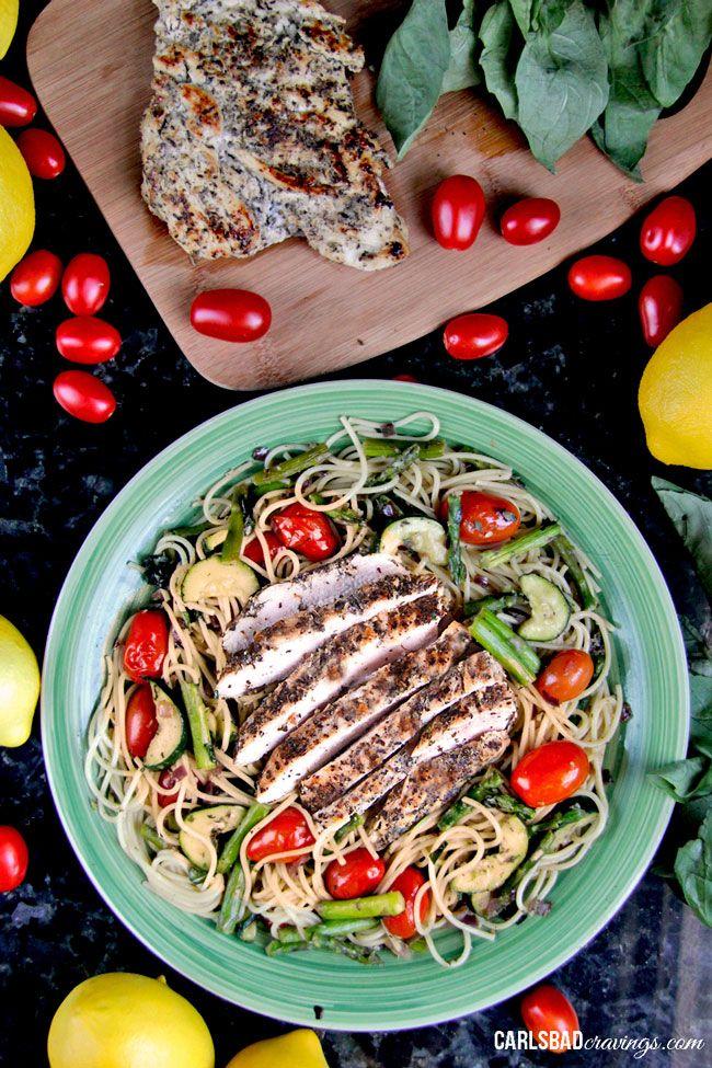 Ajo-asadas-verduras-y-Limón-Basilio-Pollo-Linguine03