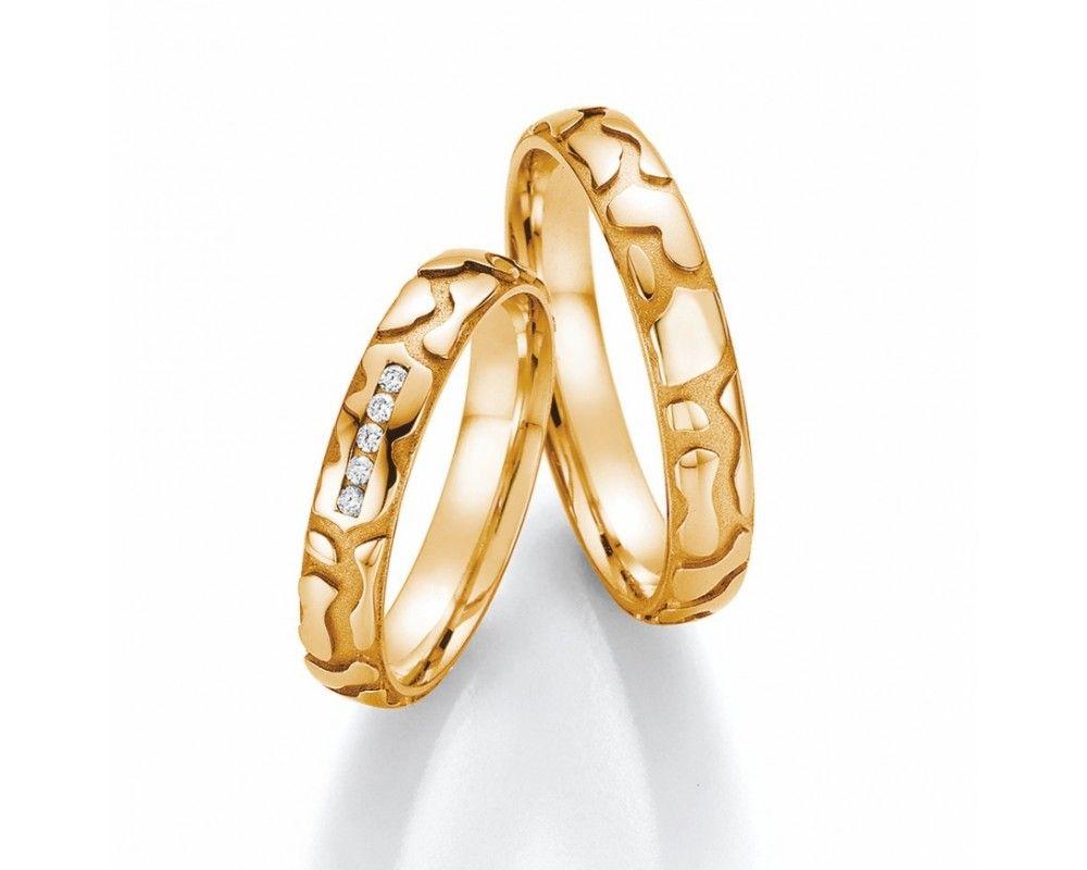 Ausgefallene Trauringe Aus Gelbgold Wedding Rings Gold Rings Engagement