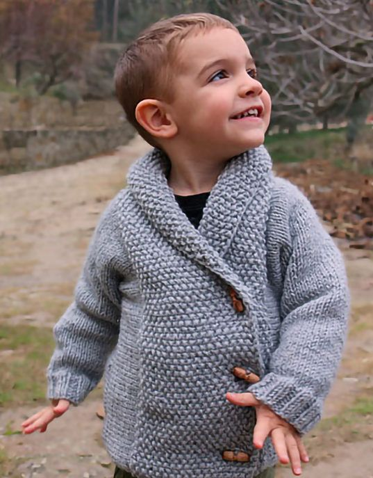 Free Knitting Pattern for Crossed Jacket - Child\'s cardigan jacket ...