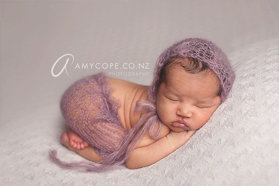 Pdf knitting pattern newborn photography prop emily lace cable edge mohair pant set 82