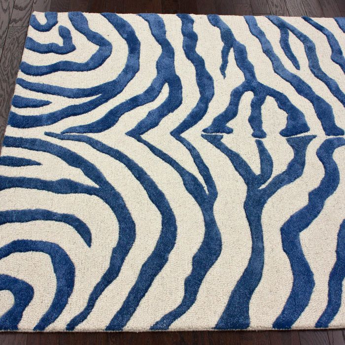 Blue Animal Print Rug Zebra Rug Blue Zebra Rug Rugs