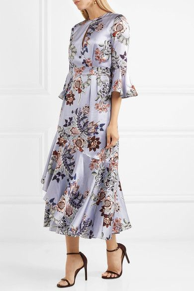 Zaful Plus Size Women Dresses Boho Round Neck 34 Sleeve Floral Print See Through Midi Party Dress Lady Female Vestidos De Festa