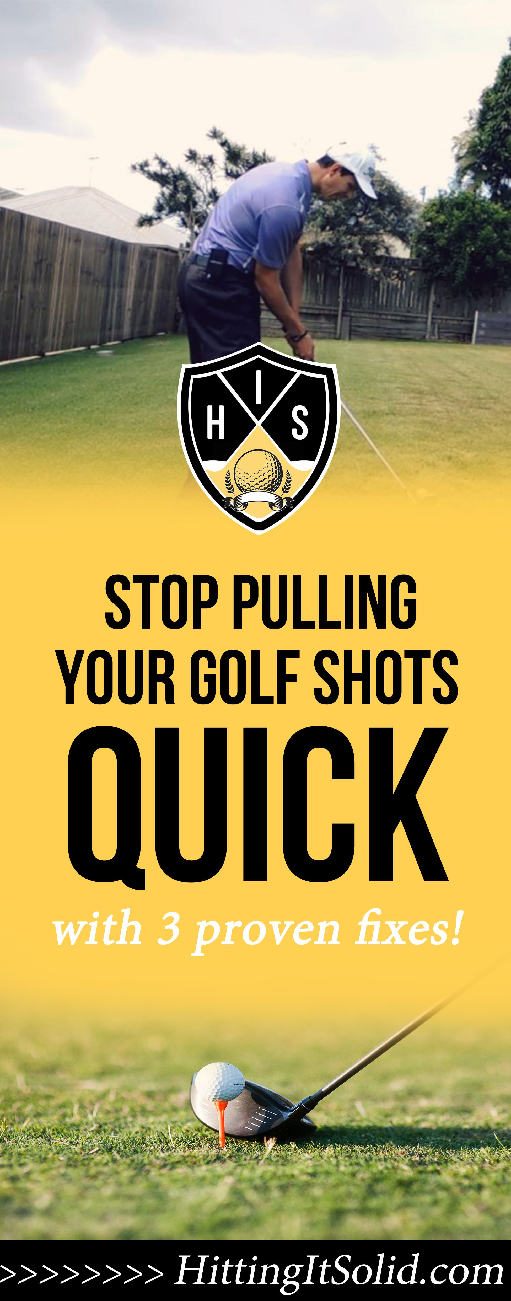 If you want to know how to stop pulling golf shots fast you need to know what the causes are and how you can fix them. These 3 simple methods will fix your pulled golf shots so you can hit straighter shots and shoot lower scores.