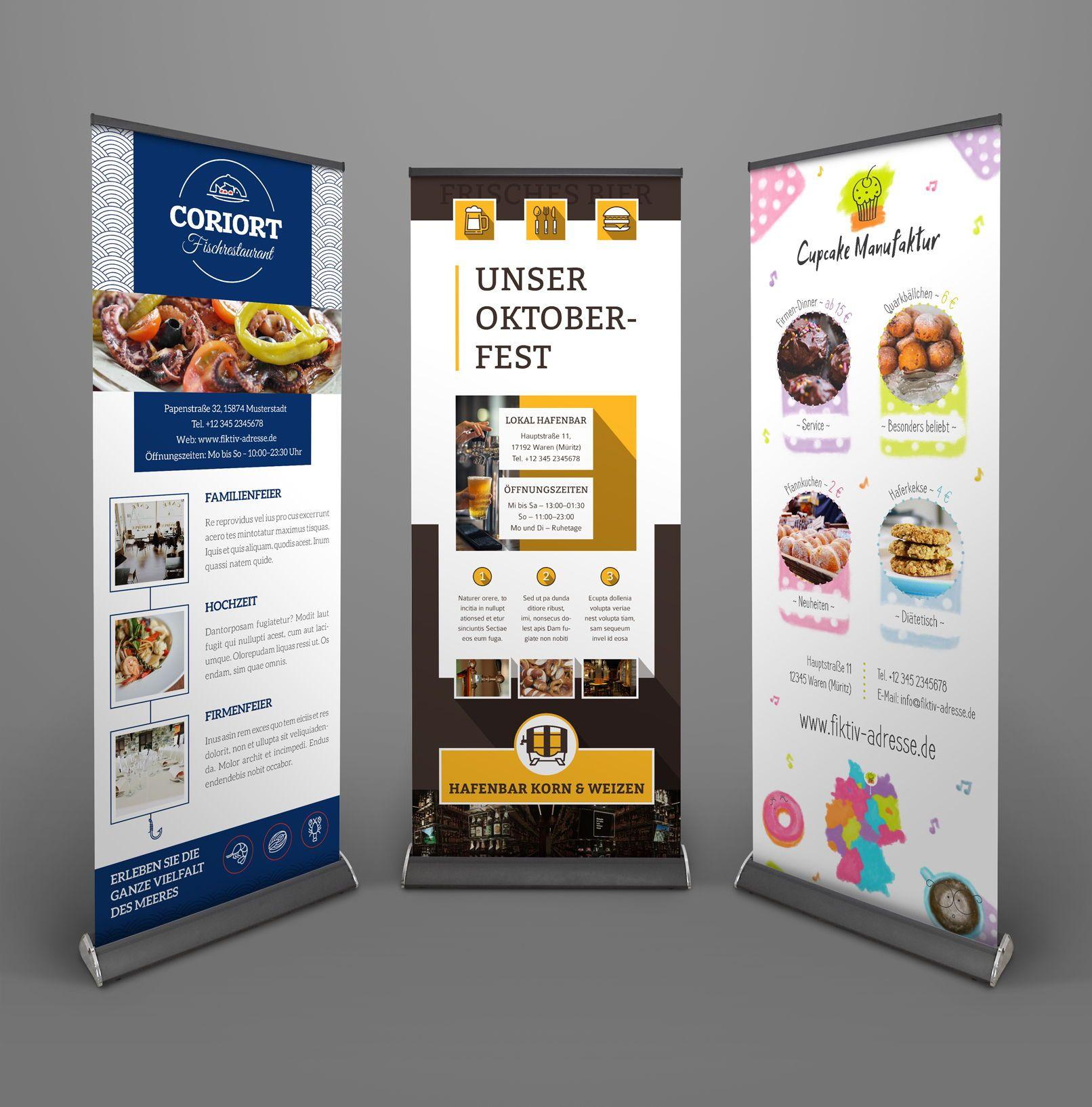Roll Up Design Gestalten Vorlagen Herunterladen Visitenkarten Vorlagen Flyer