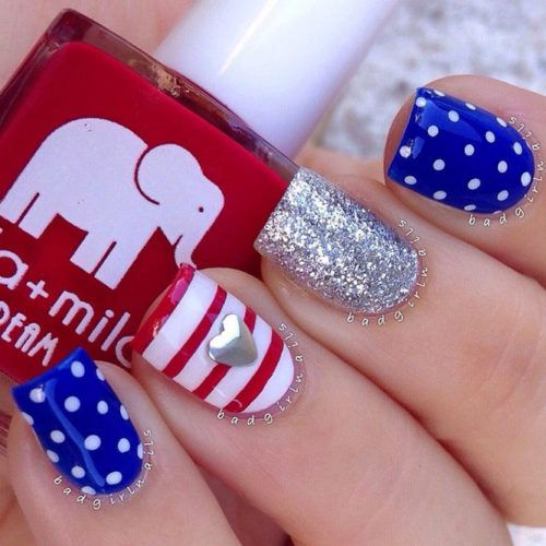 30 Fun Easy Nail Designs To Celebrate Labor Day Pinterest Nail