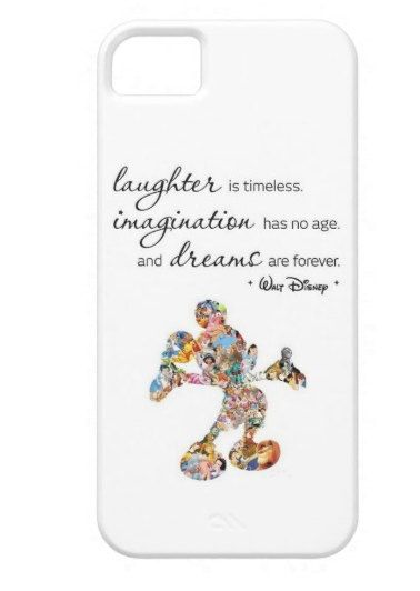 IPhone 5/5S/6 Samsung S4 Case   Walt Disney Quote Mickey Mouse Character