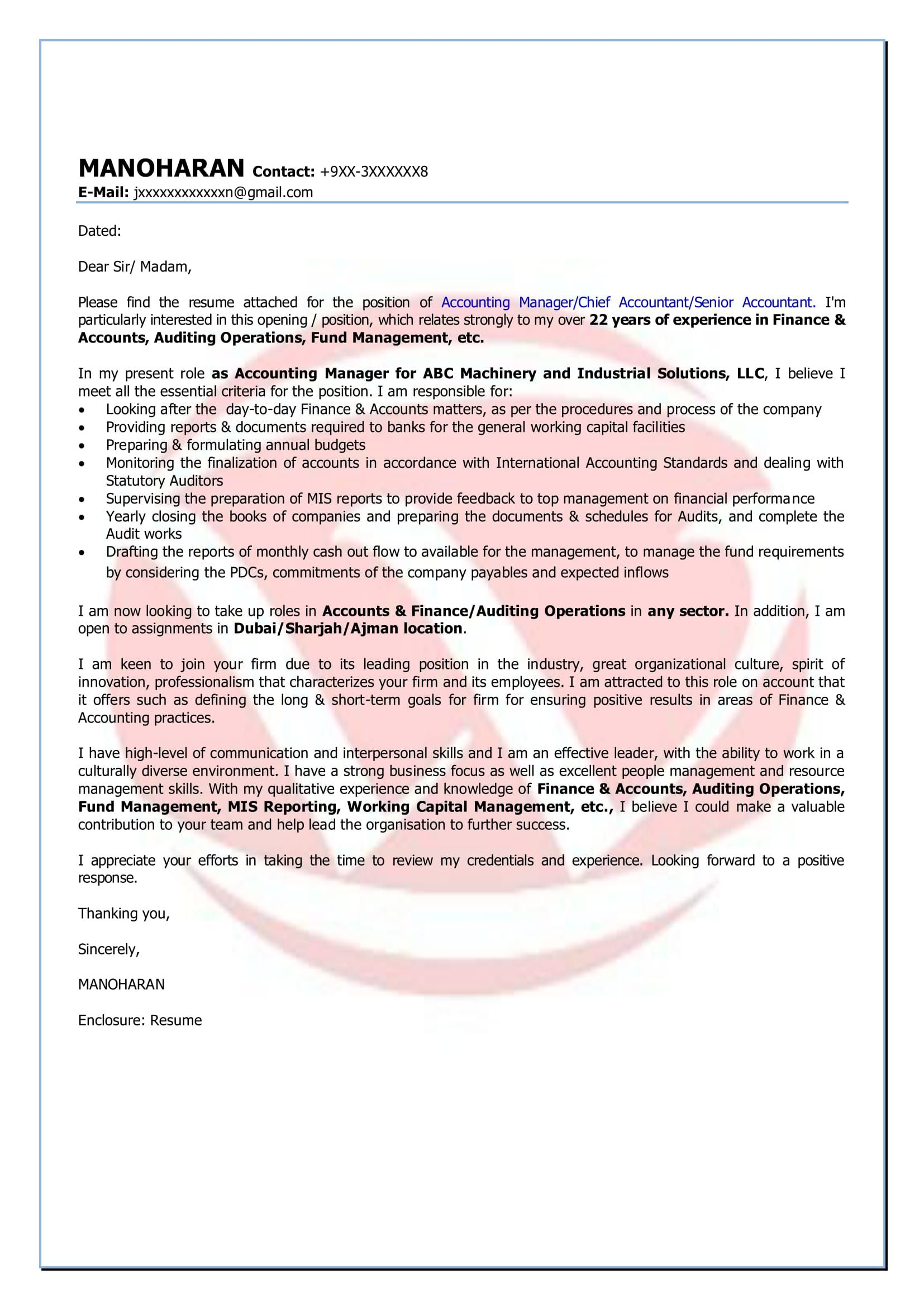 25 accounting cover letter cover letter for resume