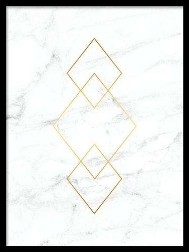 Poster med guld och marmor 180gradenom Gold marble, Marble, White marble