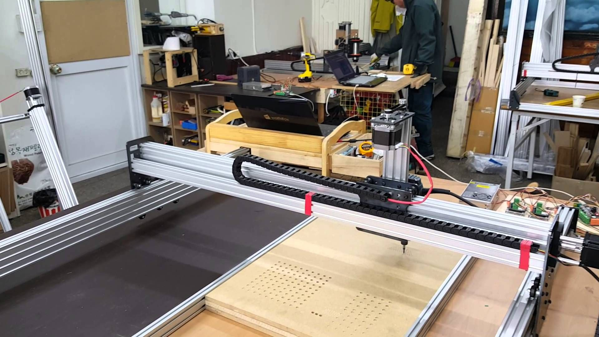 Homemade DIY CNC Project 1200*1200(오픈빌드) Diy cnc, Cnc