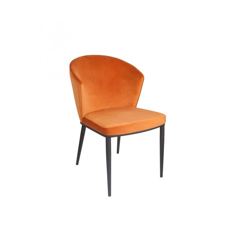 Confortable et Robuste Meubletmoi Lot de 4 chaises Tissu Gris Pieds m/étal Imitation Bois Design scandinave Vintage Emma