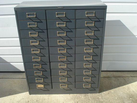 Vintage Steelmaster 30 Drawer File Cabinet On Etsy 150 00