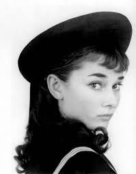 965a971a3b833e A young Audrey Hepburn in beret just like my Givenchy beret. Both the beret  I have and the photo are from the same time period.