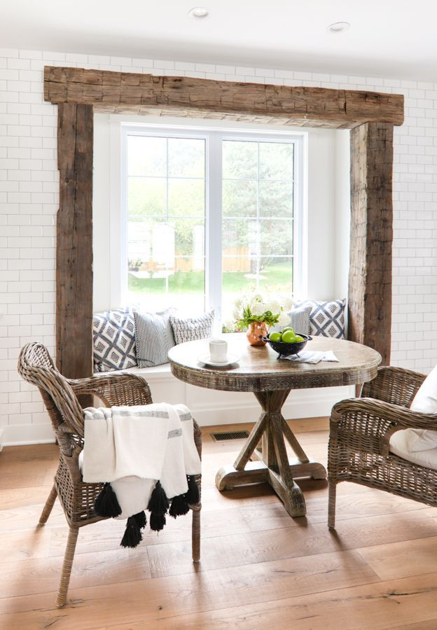 Rustic Beam Breakfast Nook Home Decor Tips Decor Dining Room Decor