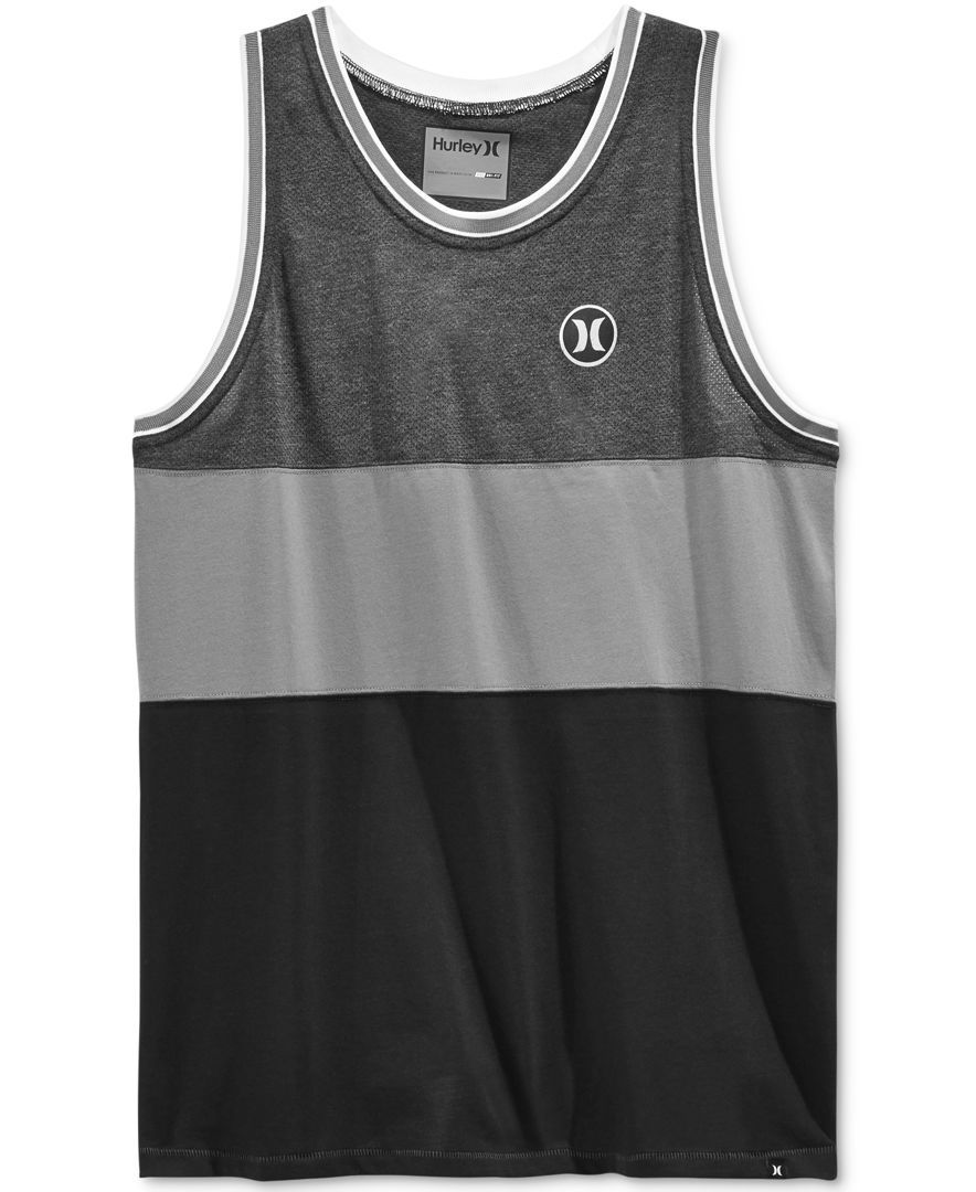 0c12eb9c29bccf Hurley Men s Stripe Colorblock Tank Top