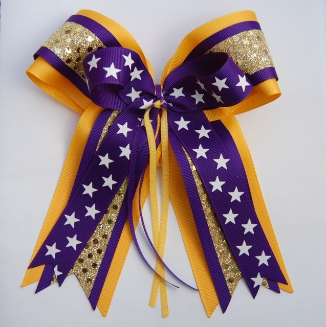glitz cheerleader hair bow cheer