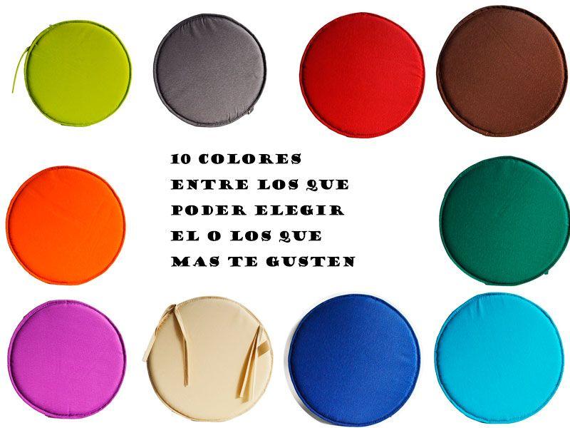 Magníficos #cojines para #sillas redondas en 10 clásicos colores
