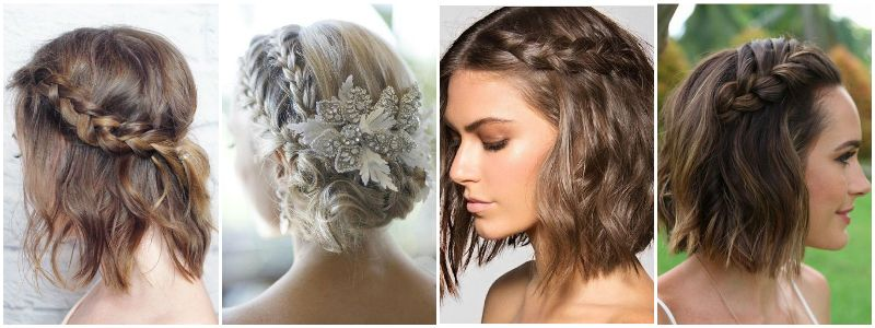 Short Hair Wrap Around Braid