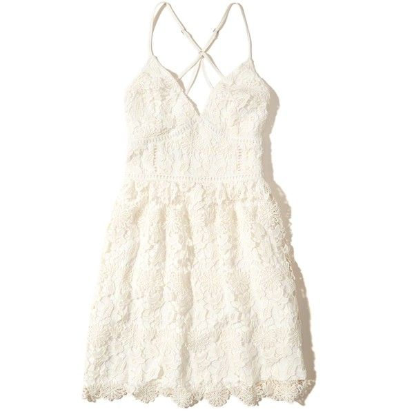 285227ba50f Hollister Strappy Back Lace Dress ( 60) ❤ liked on Polyvore featuring  dresses