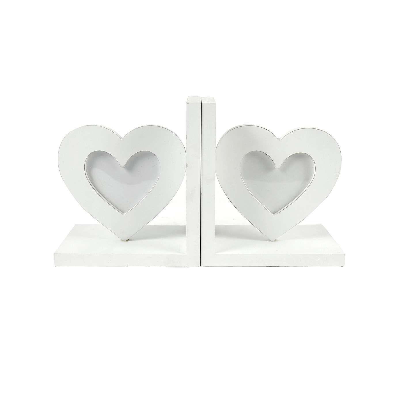 White Heart Photo Frame Bookends | Dunelm | living room | Pinterest ...