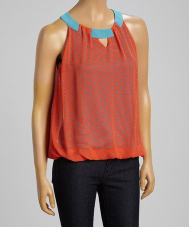 Love this Taupe Dot Yoke Tank by Pretty Good on #zulily! #zulilyfinds