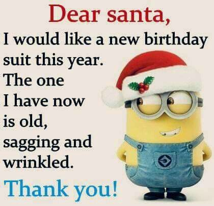 Dear Santa\u2026new bday suit