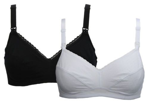 M/&S 2PK BRA SIZE 30B BLUE NAVY FULL CUP T-SHIRT MOULDED NON-WIRED BRA