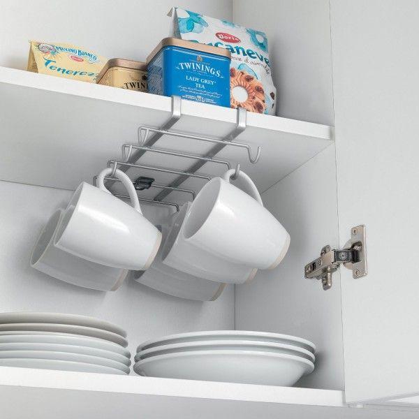 Porte-Tasses  Porte-Mugs  17 Idées Originales à Copier ! Habiter - rail pour porte de placard