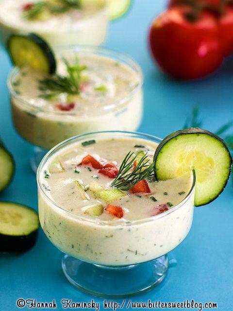 Cucumber-Yogurt Soup | by Hannah Kaminsky #vegan #recipe