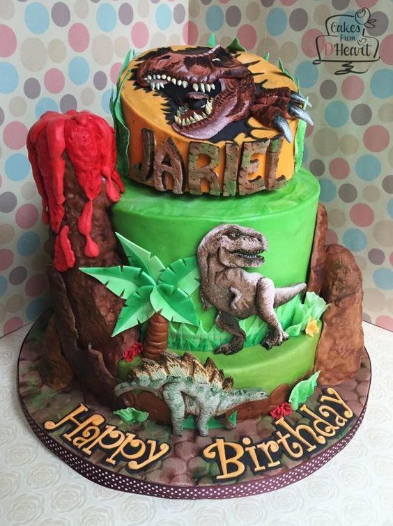 T Rex Dinosaur Cake Cake By Cakes From Dheart Cake Pinterest