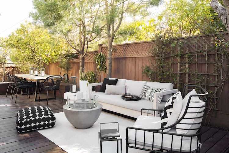 How To Design The Most Inviting Outdoor Living Space Eggshell Home Bay Area Interior Designer In 2020 Modern Outdoor Furniture Outdoor Rooms Outdoor Spaces