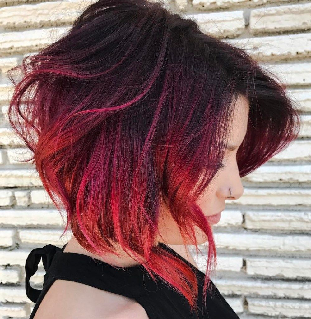 60 Beautiful And Convenient Medium Bob Hairstyles Red Ombre Hair Short Red Hair Red Balayage Hair