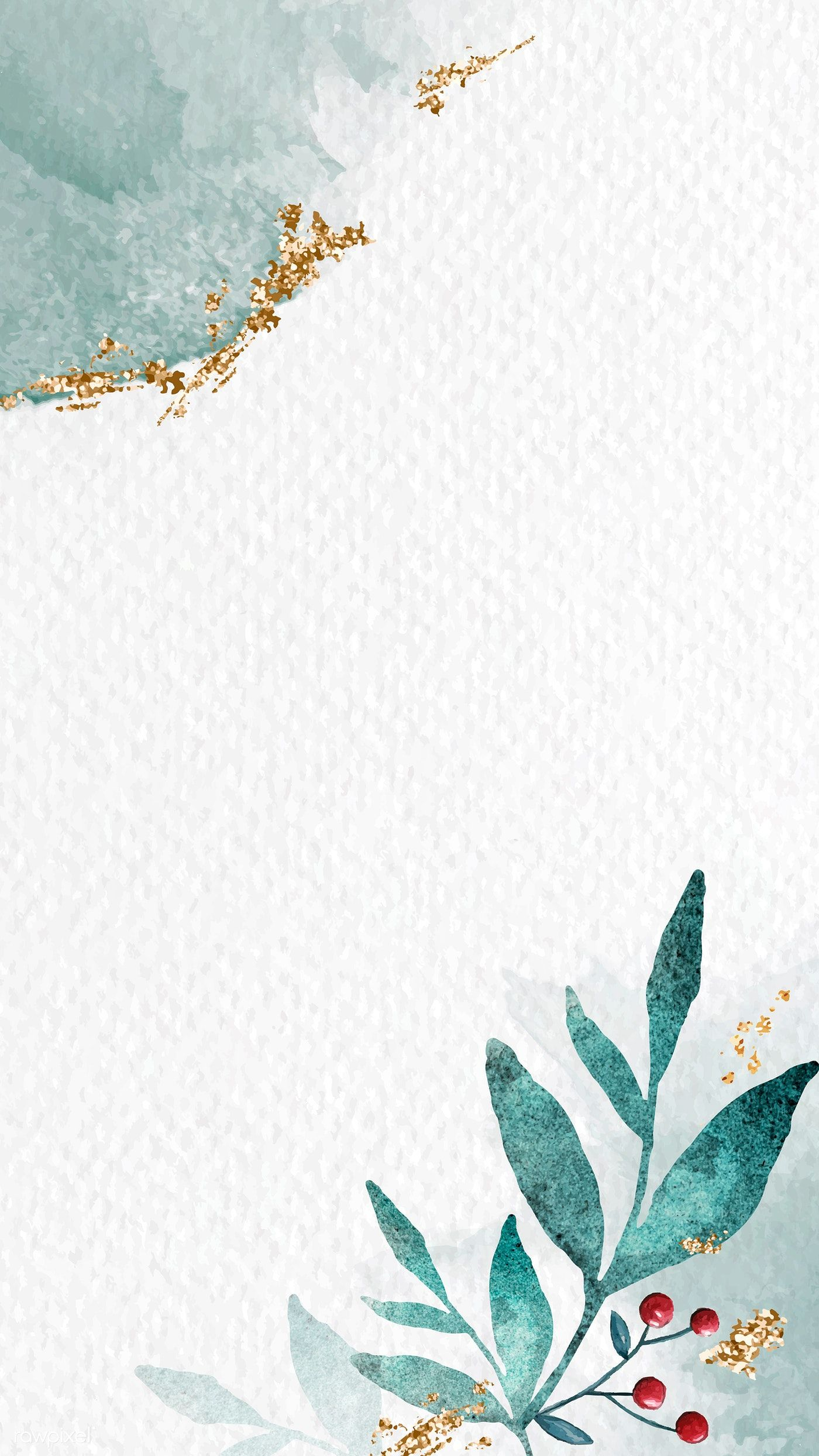 Download premium vector of Shimmering watercolor leafy frame mobile phone wallpaper vector by Adjima about watercolor mobile phone wallpaper, christmas, frame vector illustration, holly, and Christmas watercolor 1229193